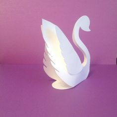 swan name place cards wedding party handmade by