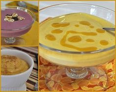"""""""How to Make Pudding from Tofu"""" """"Tofu Pudding (top left, Blackberry; bottom left, Pumpkin; right, Mango)  Today's easy, flexible, adaptable (yes, and healthy) dessert recipe: Start with tofu, then add fruit and a touch of sweetness. Whiz in the blender. That's it: You've got pudding!"""""""