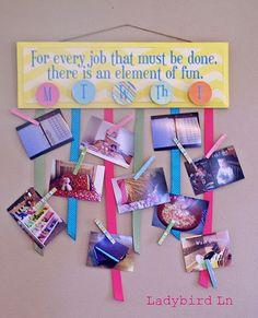 visual chore chart Chore Chart Vinyl to make fun Job Board Marry Poppins Vinyl Quote. $8.00, via Etsy.