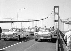 1957 Mackinac Bridge Opening Day Photo Courtesy of Michigan State Police Photo Lab