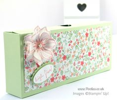 Stampin' Up! UK Demonstrator Pootles - Large Thin Clever Close Box Tutorial