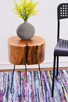 how to make a tree stump side table with diy legs, how to, painted furniture, repurposing upcycling, Furniture Legs, Rustic Furniture, Furniture Makeover, Painted Furniture, Unique Furniture, Furniture Refinishing, Refurbished Furniture, Furniture Online, Furniture Outlet