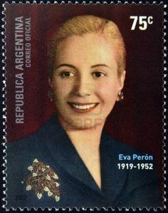 Argentina 2002 - .María Eva Duarte de Perón, más conocida como Eva Perón o Evita, fue una actriz y política argentina.. Se casó con Juan Domingo Perón en 1945 y tras la asunción de este como Presidente de la Nación Argentina , Duarte se convirtió en Primera Dama. Fue Presidenta del Partido Peronista Femenino, Presidenta de la Fundación Eva Perón y jefa espiritual de la Nación.