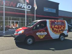 Vivaldi Pizza Vehicle Wrap Done  By Sign Pro Inc.