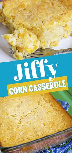 Wow, this easy Jiffy corn casserole is quick and easy to make and tastes like the one I remember growing up. Perfect comfort food! Easy Delicious Recipes, Easy Recipes, Delicious Desserts, Easy Meals, Yummy Food, Oven Recipes, Side Dish Recipes, Baking Recipes, Side Dishes