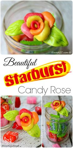 Edible Starburst Candy Roses - iSaveA2Z.com