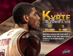 Lebron James and Kyrie Irving NBA Finals graphics on Behance