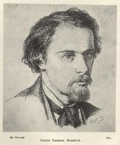 "Dante Gabriel Rossetti self-portrait. From ""100 Self-Portrait Drawings from 1484 to Today"""