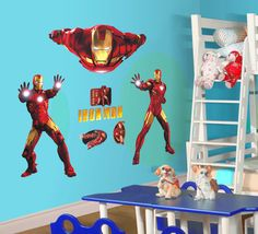 IRON-MAN DIY Large Size 90*60cm PVC Wall Sticker /Wall Decal/Wallpaper/Room Sticker/House Sticker Free Shipping US $12.99