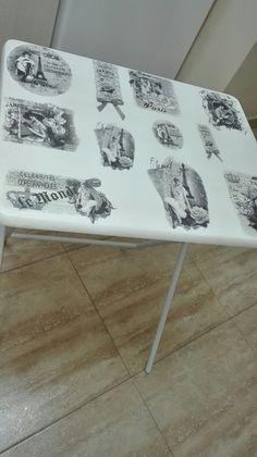 Mesa decorada con papel de arroz