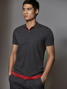 Fall Winter 2017 Men´s COTTON POLO SHIRT WITH CONTRASTING DETAILS at Massimo Dutti for 55.5. Effortless elegance! Winter 2017, Fall Winter, Sharp Dressed Man, Polo T Shirts, Mens Tees, Men Dress, Shirt Designs, Polo Ralph Lauren, Men's Polo