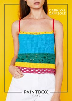 Carnival Camisole in Paintbox Yarns Cotton DK