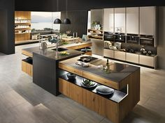 21 Modern Kitchen Concepts Every House Cook Requirements to See Home Decor Kitchen, Rustic Kitchen, Home Kitchens, Kitchen Dining, Kitchen Cabinets Showroom, Grey Kitchen Cabinets, Luxury Kitchen Design, Interior Design Living Room, Casas Country
