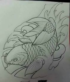 Japanese Koi Fish Tattoo, Koi Fish Drawing, Fish Drawings, Tatto Koi, Koi Tattoo Design, Chinese Tattoo Designs, Eclipse Tattoo, Koi Art, Asian Tattoos