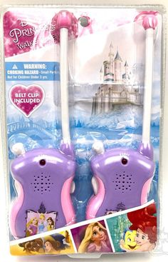 Disney Princess Walkie Talkies Set Belle Cinderella New  | eBay