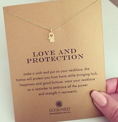 love and protection heart hamsa necklace