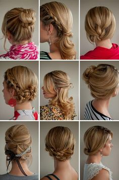 Really pretty anytime hairstyles!