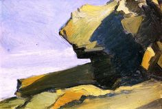 Rocky Projection at the Sea Edward Hopper - 1916-1919