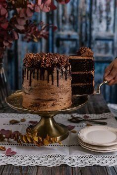 Layer cake de Nutella (y cuarto cumple blog)   Con aroma de vainilla - Deliciosas recetas de repostería