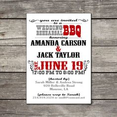 PRINTABLE BBQthemed birthday party wedding by chachkedesigns, $12.00
