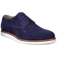 Boss Orange Men's Speedes Oxfords ($236) ❤ liked on Polyvore featuring men's fashion, men's shoes, men's oxfords, navy, mens shoes, mens navy shoes, mens oxford shoes and navy blue mens shoes