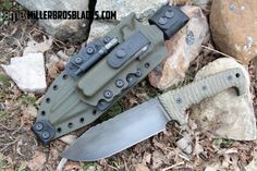 Miller Bros. Blades M-8 with Custom Kydex sheath. This model is available in Z-Wear PM, CPM 3V, CPM S35VN, Z-Tuff PM and 5160 steels Miller Bros. Blades Custom Handmade Knives, Swords & Tomahawks.
