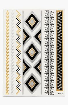 Cara 'Aztec 1' Temporary Tattoos available at #Nordstrom