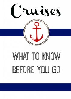 Cruises what to know before you go