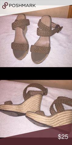 Sandals Olive green wedge sandal Jessica Simpson Shoes Espadrilles