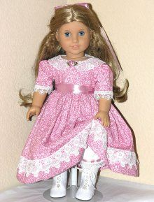 Handmade American Girl Doll 18 inch Doll Dress Rosey Mauve