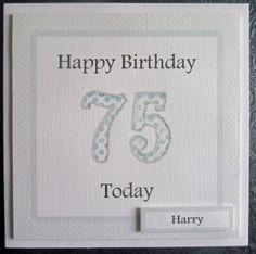 Personalised Male 75th Handmade Birthday Card - SC71 £2.75