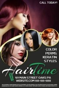 Pin By Godwin Appiah On Flyers Flyer Template Salons