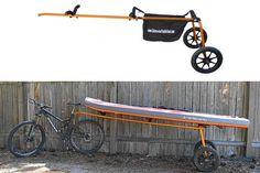 Kayak trailer for a bike. By salamander paddle gear