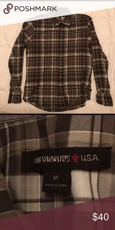John Varvatos Star USA Casual Shirt Sz M Sz M - JOHN VARVATOS STAR USA Casual Shirt STAR USA Premium Casual Shirt Checkered Design Wire in End of Sleeve and The Collar for Added Styling (Holds Form). Very beautiful design. Truly an amazing piece of style. Fits and looks amazing. John Varvatos Shirts Casual Button Down Shirts