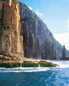 Sea cliffs at South Bruny Island, Tasmania