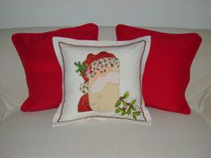 Cojines decorados en bordado liquido por Sandra Lopez Throw Pillows, Quilts, Blanket, Canvas, Bed, Crafts, Painting, Craft Ideas, Sewing