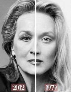 Meryl Streep now and then. I believe this is the definition of 'aging gracefully… Meryl Streep now and then. I believe this is the definition of 'aging gracefully'. I definitely wanna age gracefully Ex Machina, Actrices Hollywood, Ageless Beauty, Photos Of The Week, 2 Photos, Aging Gracefully, Famous Faces, Divas, Beautiful People