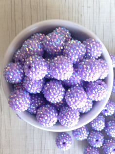 A personal favorite from my Etsy shop https://www.etsy.com/listing/501247170/20mm-purple-rhinestone-bubblegum-beads