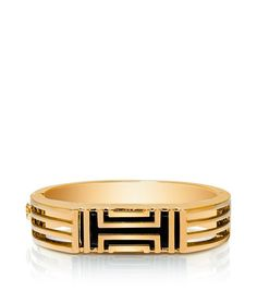 Tory Burch for Fitbit Metal Hinged Bracelet - SHINY BRASS