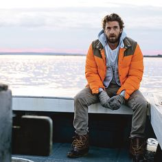 """Actor Scott Speedman shows how men up north weather the cold with rugged, elegant style"" 