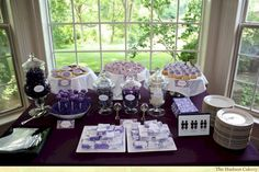 Adorable 60+ Awesome Purple Candy Table For Your Wedding  https://oosile.com/60-awesome-purple-candy-table-for-your-wedding-6904