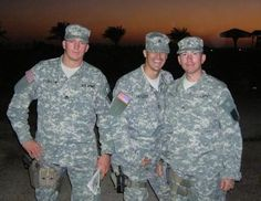 Soldiers, on left my handsome son in  Eric