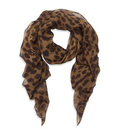 Alexander McQueen Leopard Skull Scarf. My 2 favorite things, skulls and leopard! I'm in love ♥♥