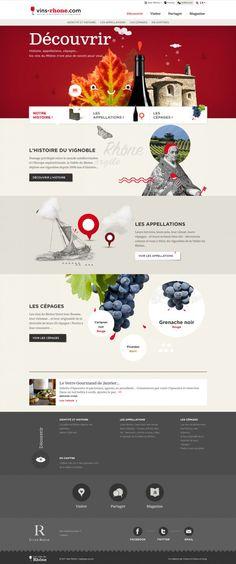 Vins Rhone - Cotes du Rhone and Rhone Valley AOC wines - #Webdesign #inspiration http://www.vins-rhone.com/