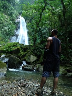 Enjoy the beauty of Colombia's waterfalls.