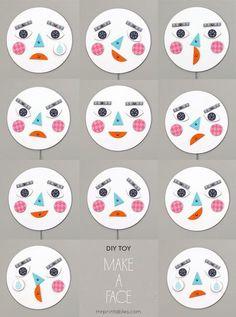 Hacer caras para distintas emociones- platos y piezas de cartulina