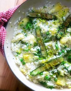 Lemony Spring Risotto and the Winner of My Giveaway - Proud Italian Cook