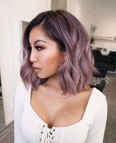 Violet Hair, Purple Hair, Ombre Hair, Short Lilac Hair, Pastel Lilac Hair, Black Ponytail Hairstyles, Box Braids Hairstyles, Hair Dye Colors, Cool Hair Color