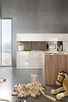 Spectacular Bia y lakier drewno zdj cie od Atlas Kuchnie Szczecin home Pinterest Kitchens