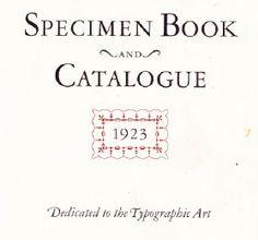 The 1923 ATF Specimen Book and Catalogue is Reborn Digital | CreativePro.com